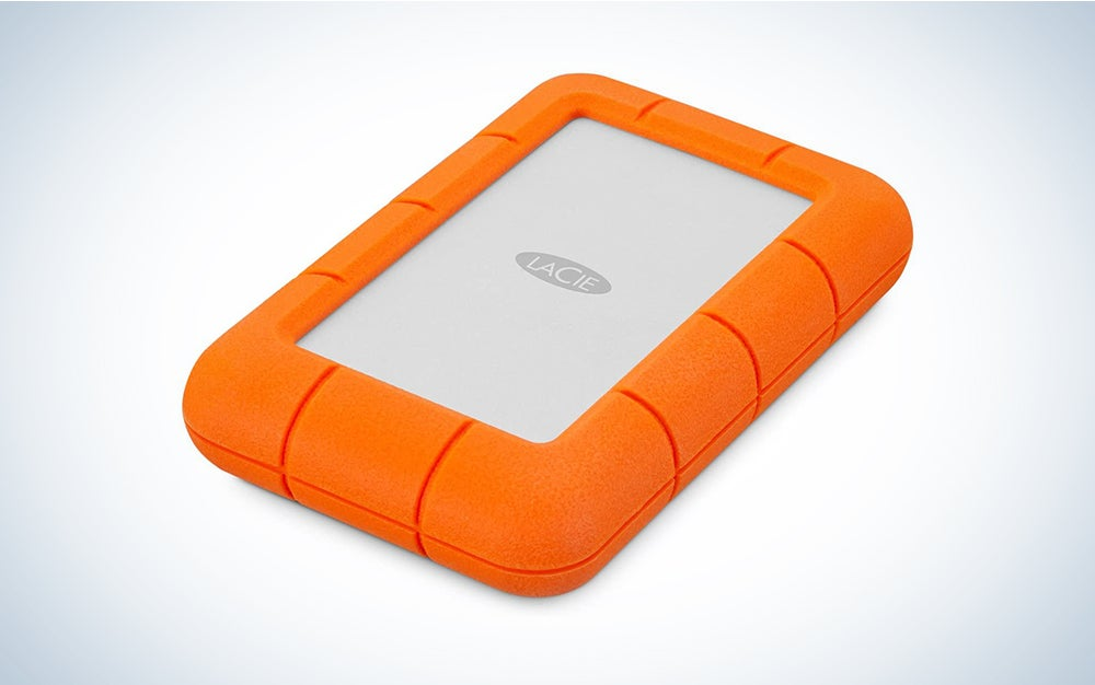orange lacie hard drive