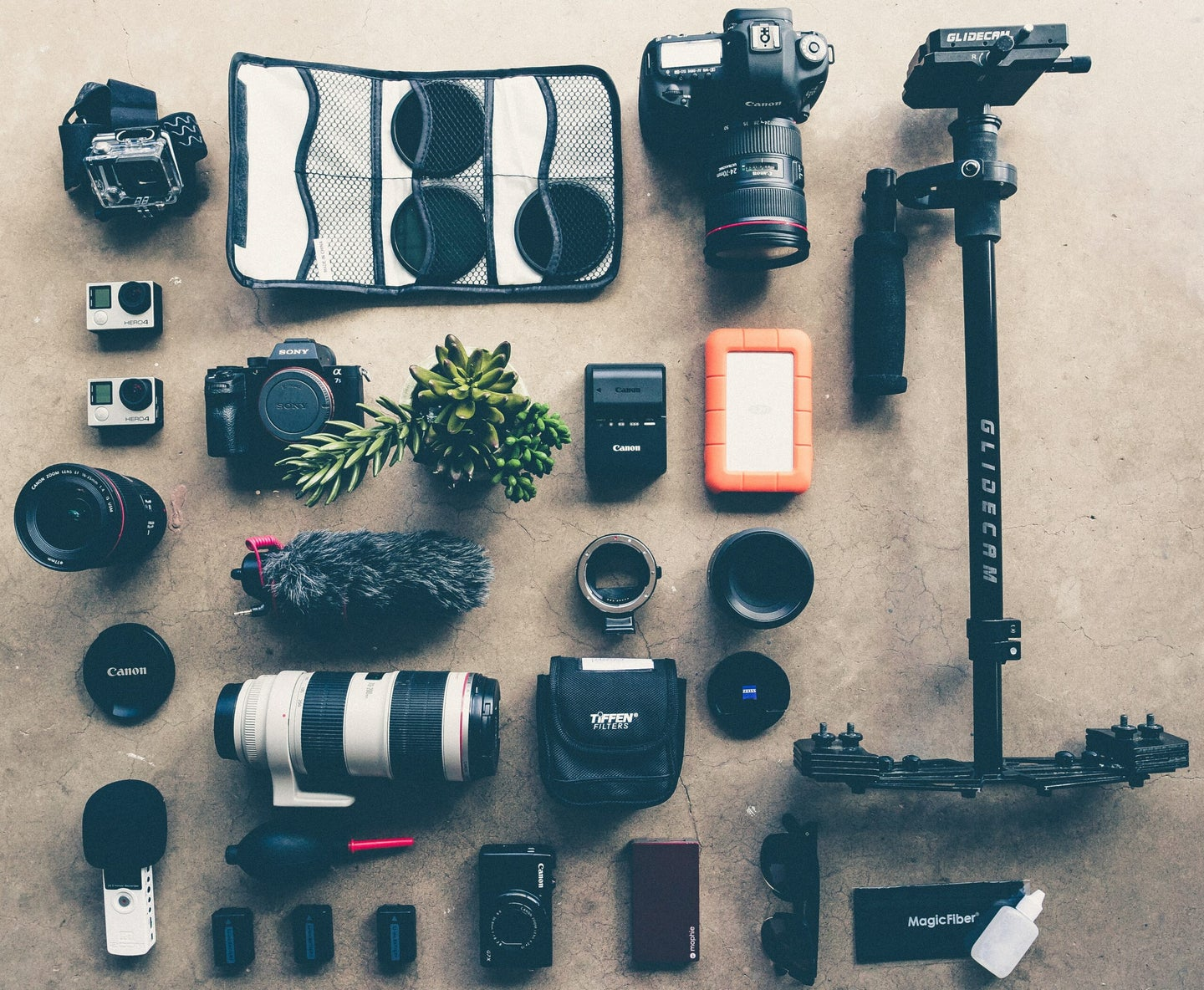 camera gear on a table prime day deals