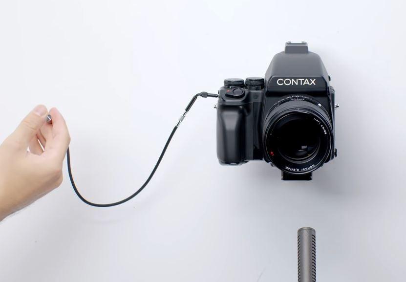 Contax camera shutter sound video