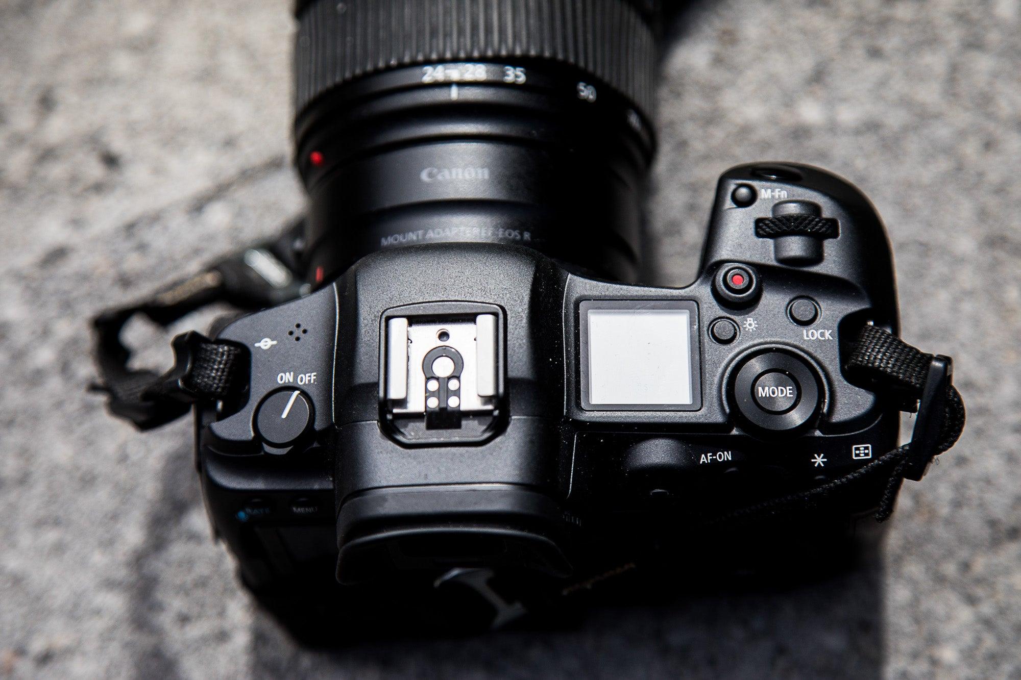 Canon EOS R5 mirrorless camera top