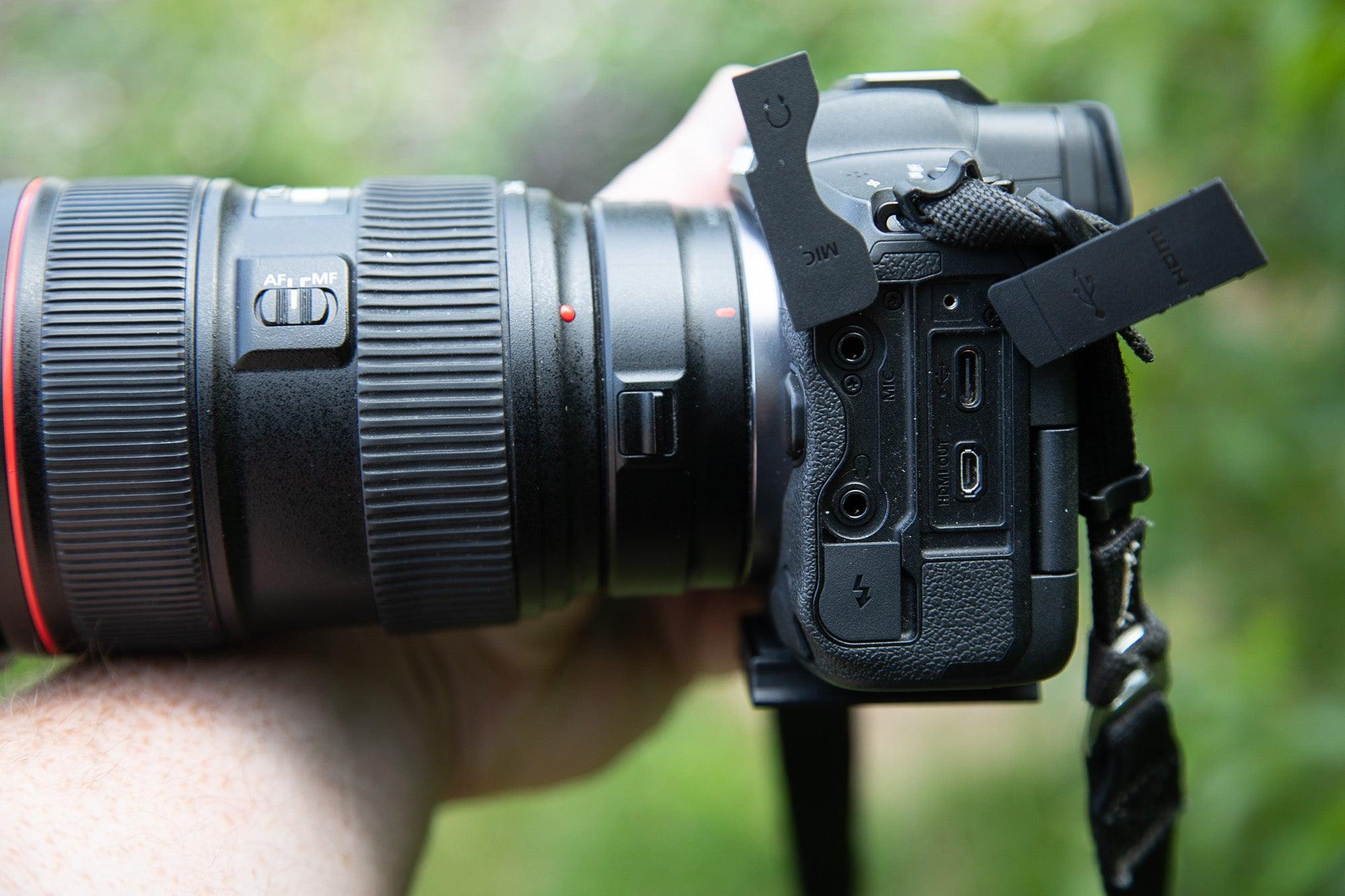 EOS R5 mirrorless camera side