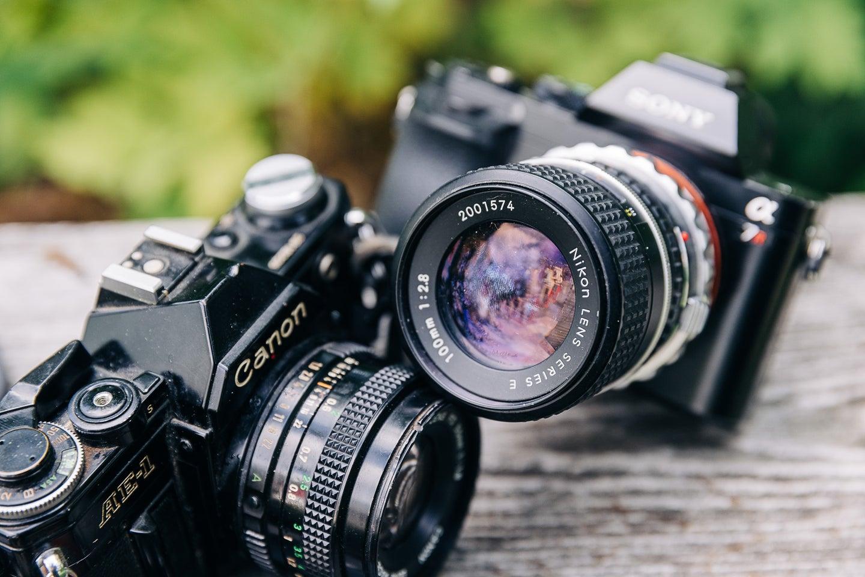 Vintage lenses on cameras