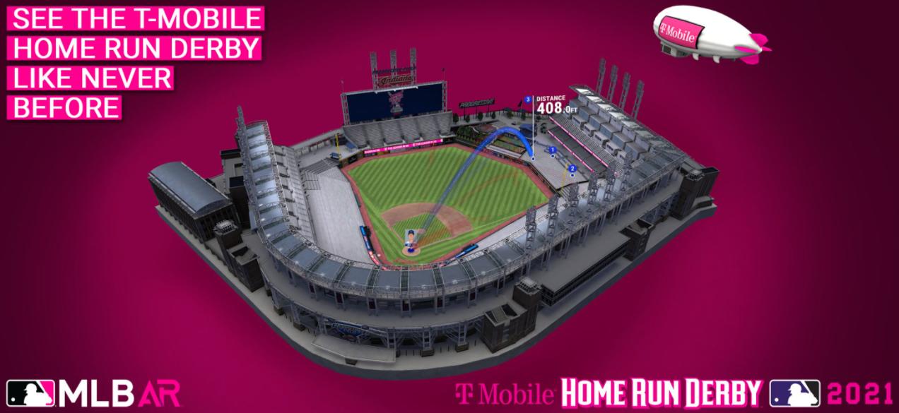 MLB AR homerun derby