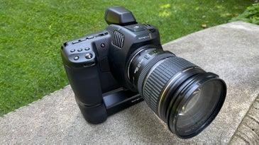 Blackmagic Pocket 6K Pro with lens