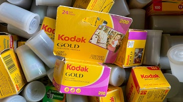 A box of photographic film