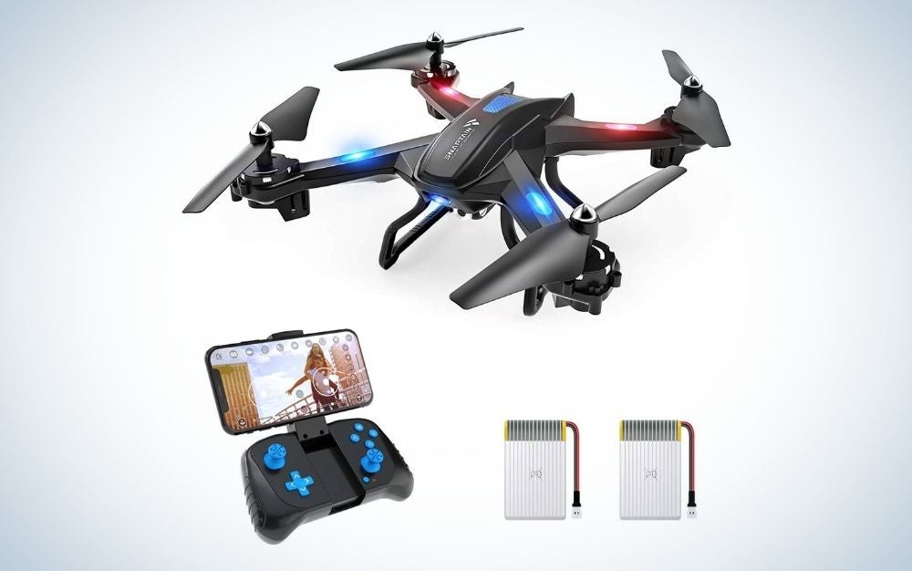 The Snaptain S5C is the best drone for kids.