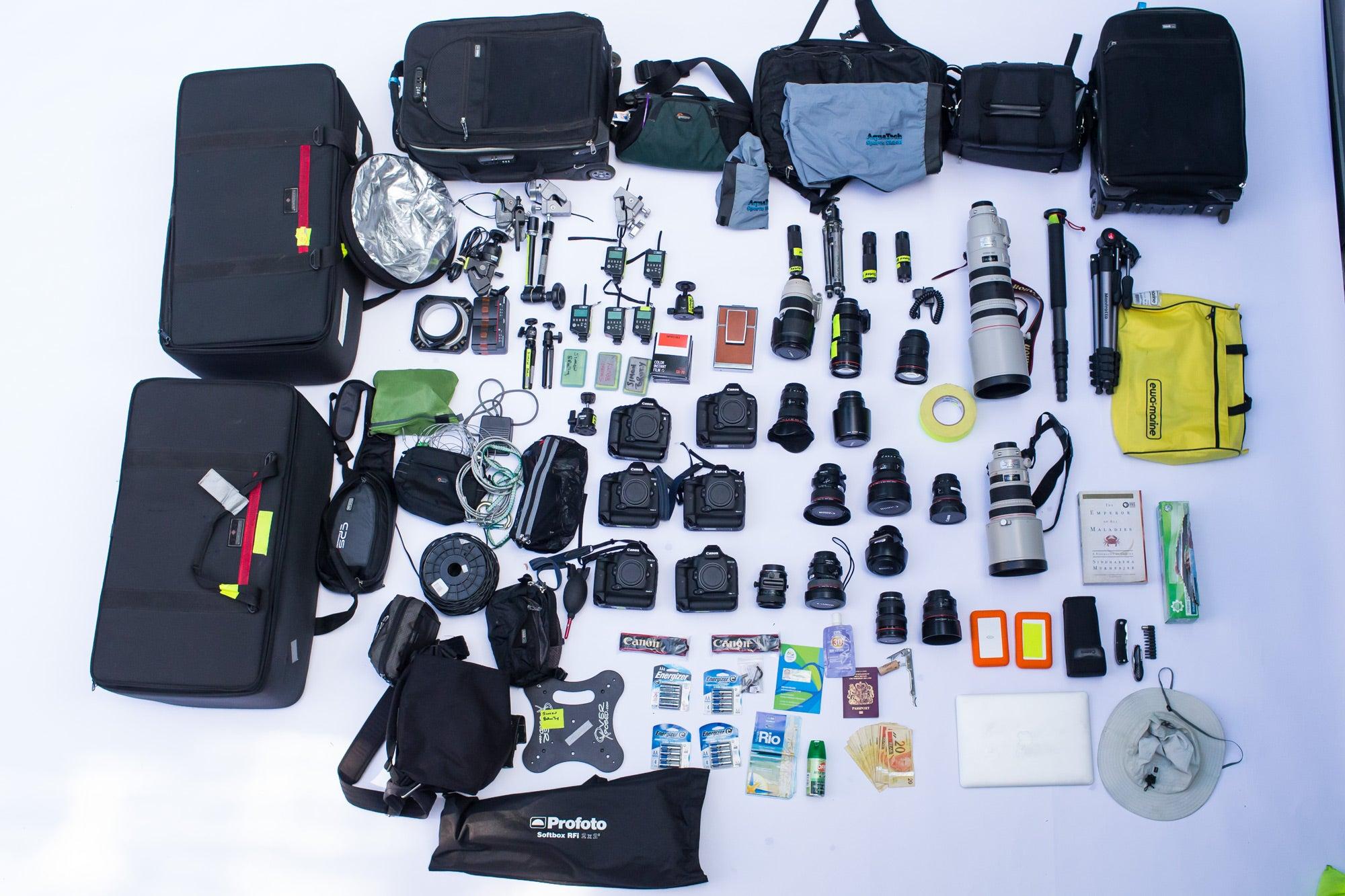 Simon Bruty's sports photography kit for Rio