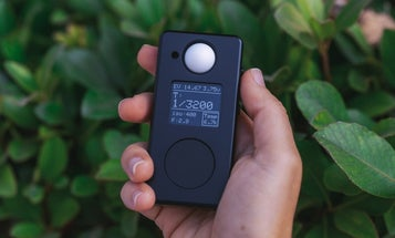 The Negative Supply LM1 light meter fits in a film photographer's pocket