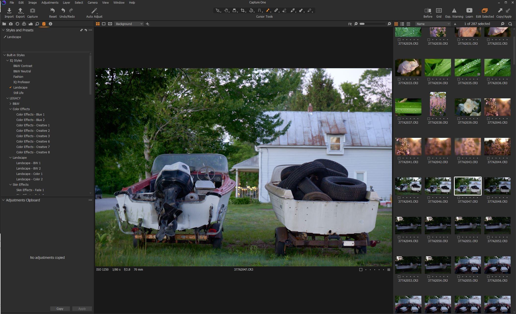 Capture One Pro presets