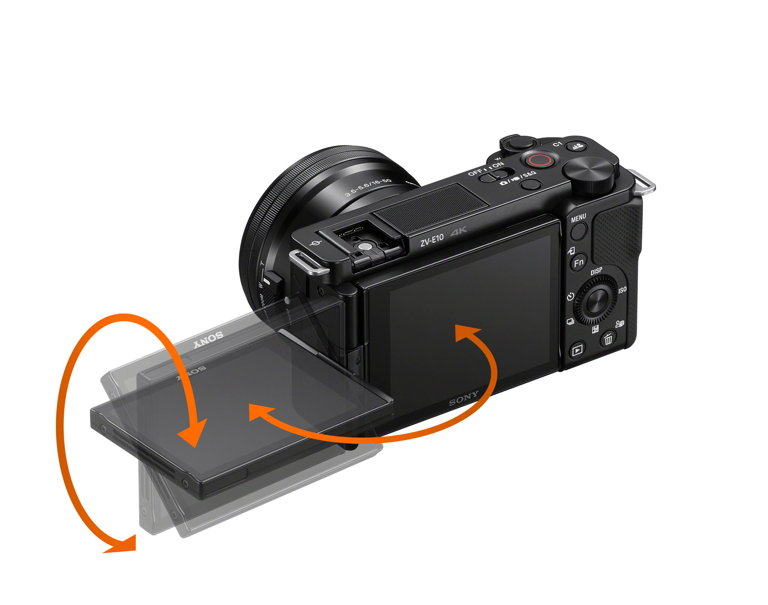 Sony ZV-E10 camera swiveling screen