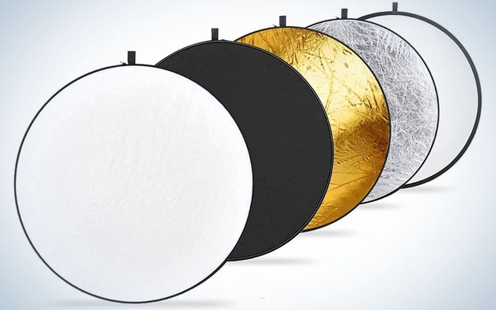 The Neewer 43-Inch 5-in-1 Light Reflector is the best light reflector.