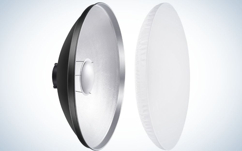 The Neewer Aluminum-Standard Reflector is the best beauty dish.