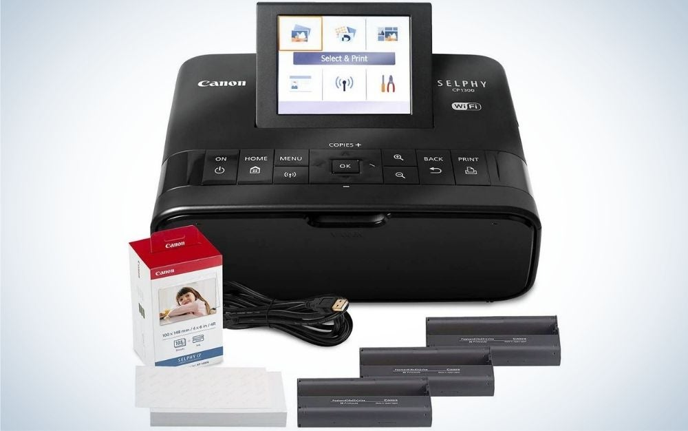 The Canon SELPHY CP1300 is the best canon printer that's small.