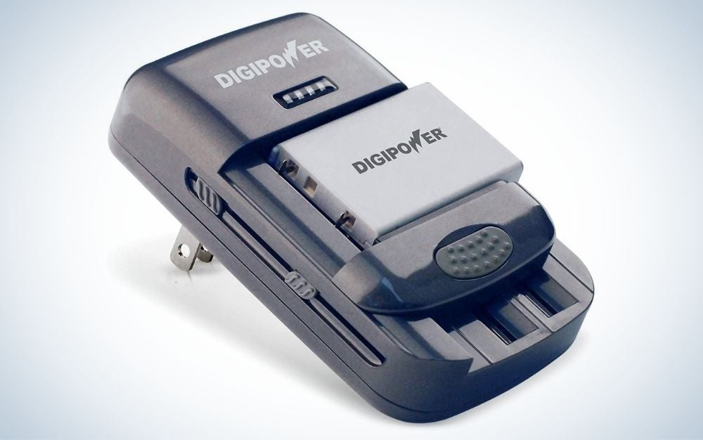 The DigiPower Universal Li-ion Battery Charger is the best battery charger.