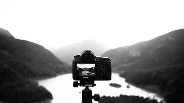 Camera capturing a landscape