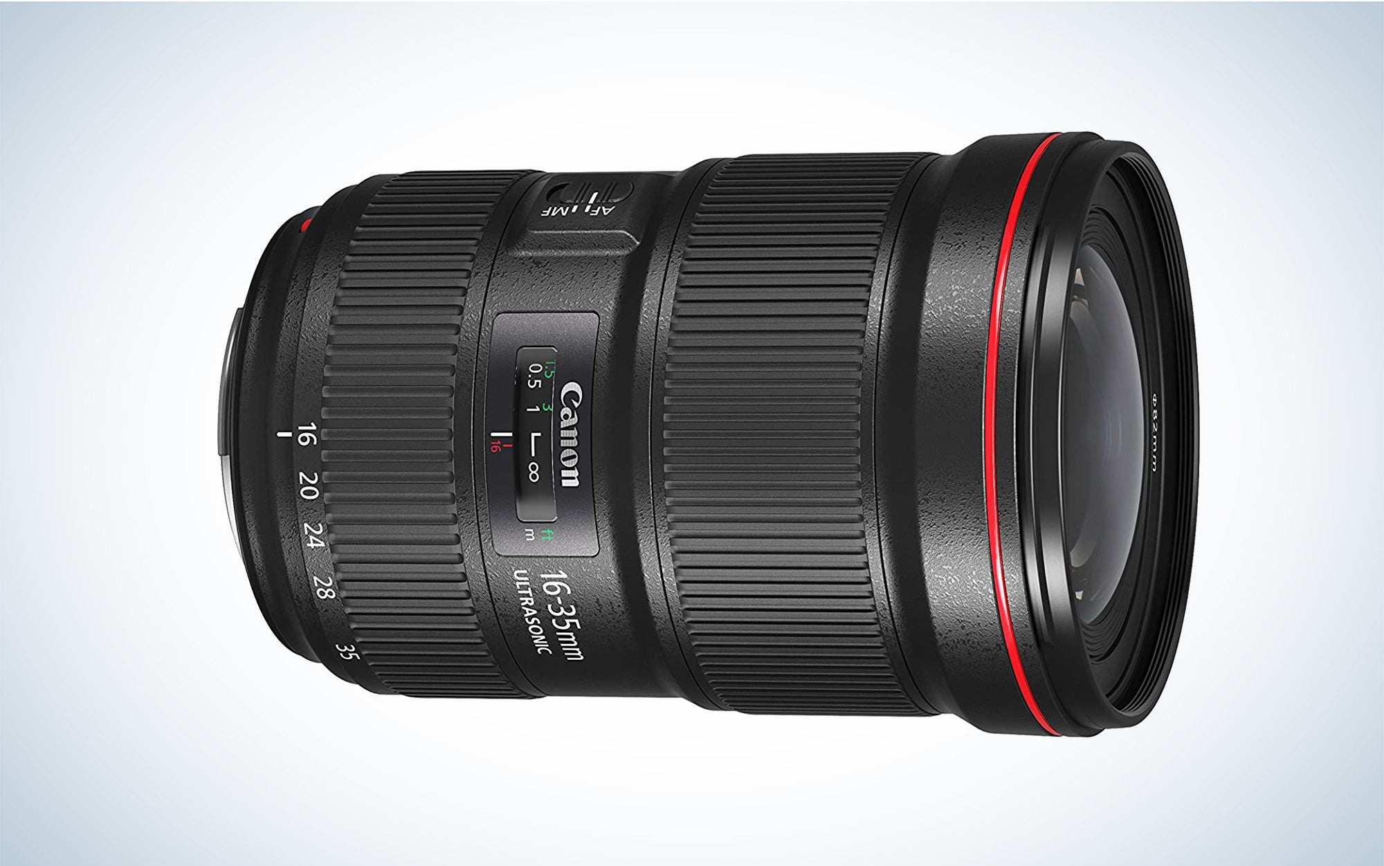 Canon 16-35mm zoom lens is the best wide angle lens.