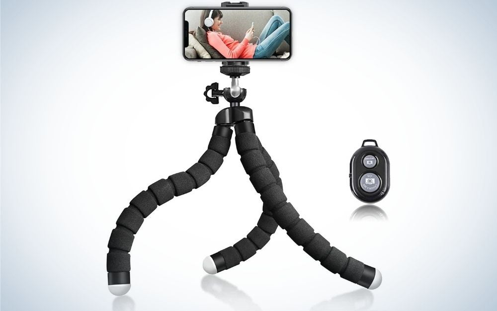 Flexible Universal Tripod is the best phone tripod on a budget.