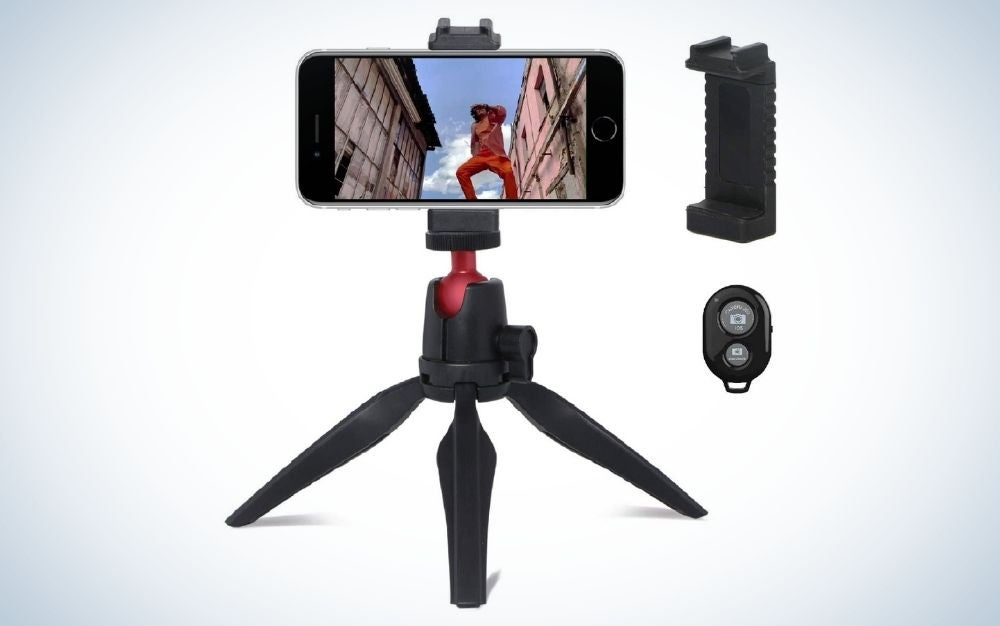 Portable Mini Phone Tripod is the best phone tripod for your pocket.