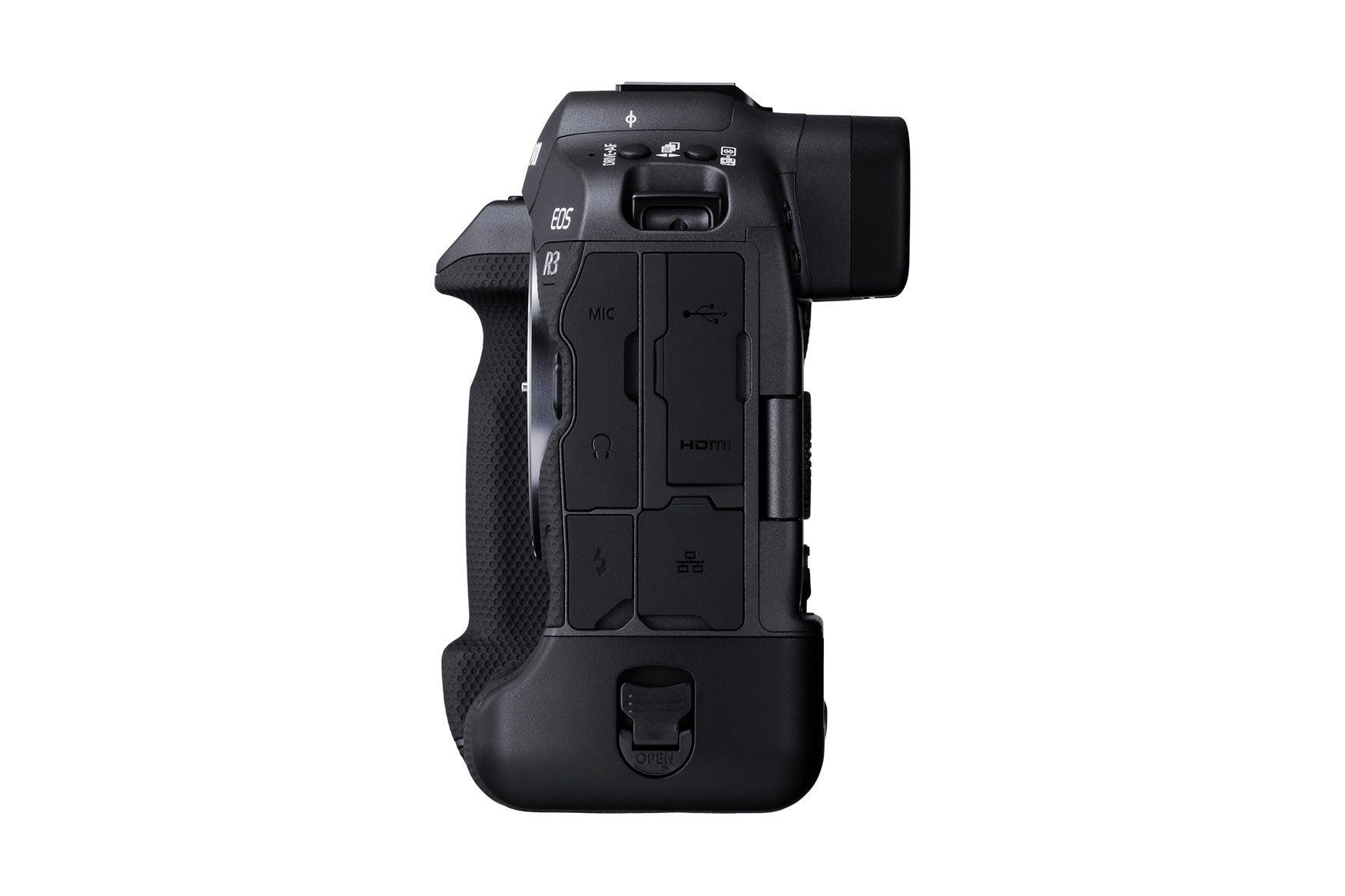 Canon EOS R3 mirrorless camera side
