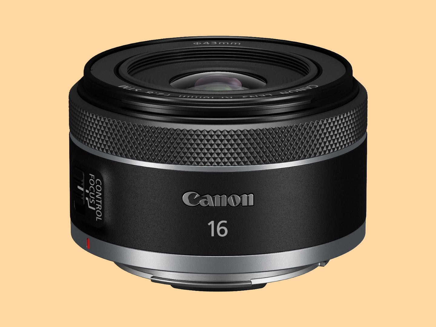 Canon RF 16mm F2.8 STM front