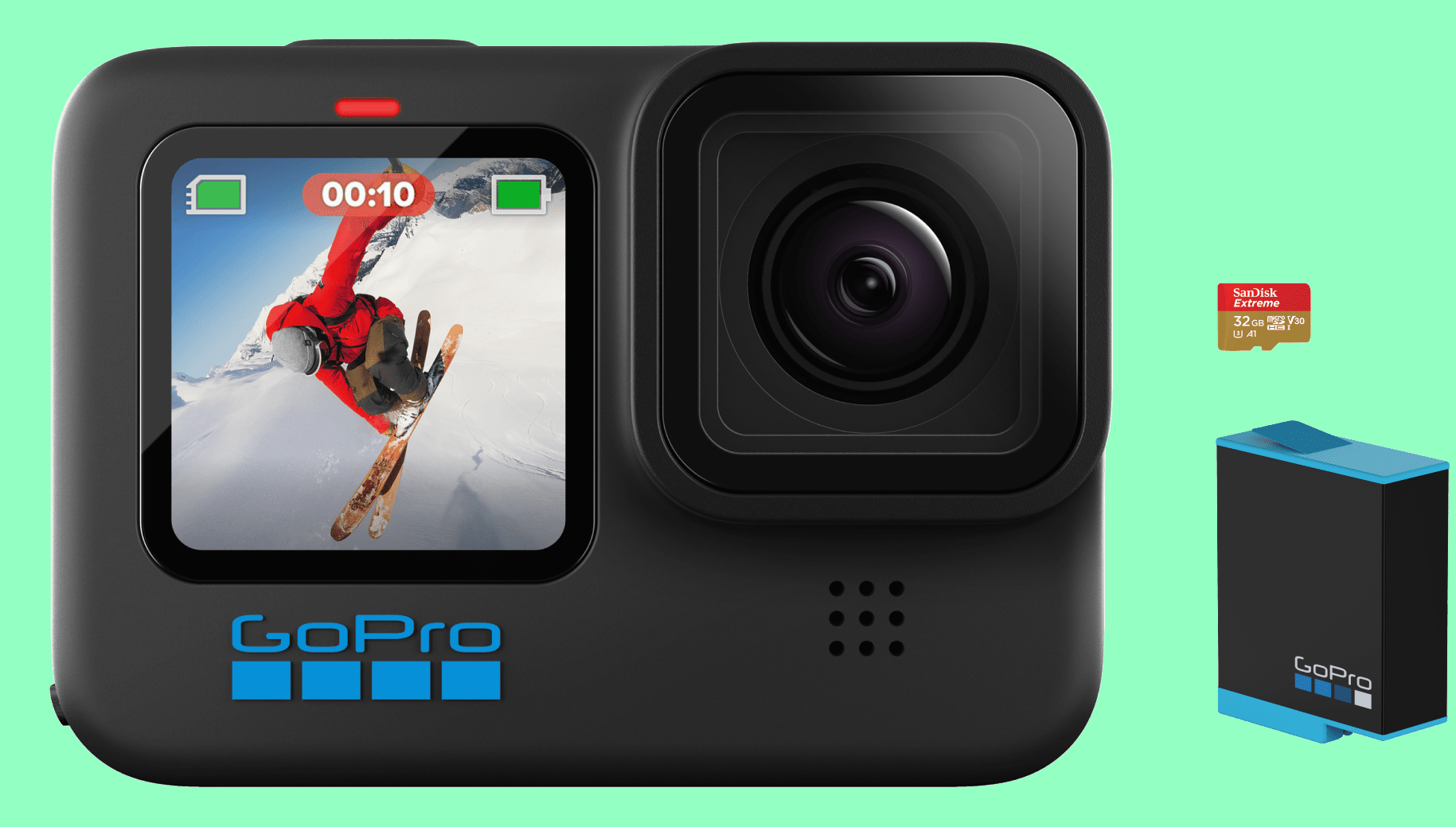 The new GoPro HERO10 Black front view