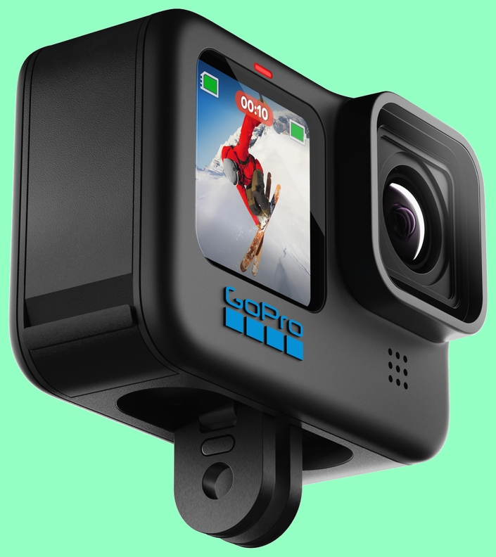 The new GoPro HERO10 Black side view