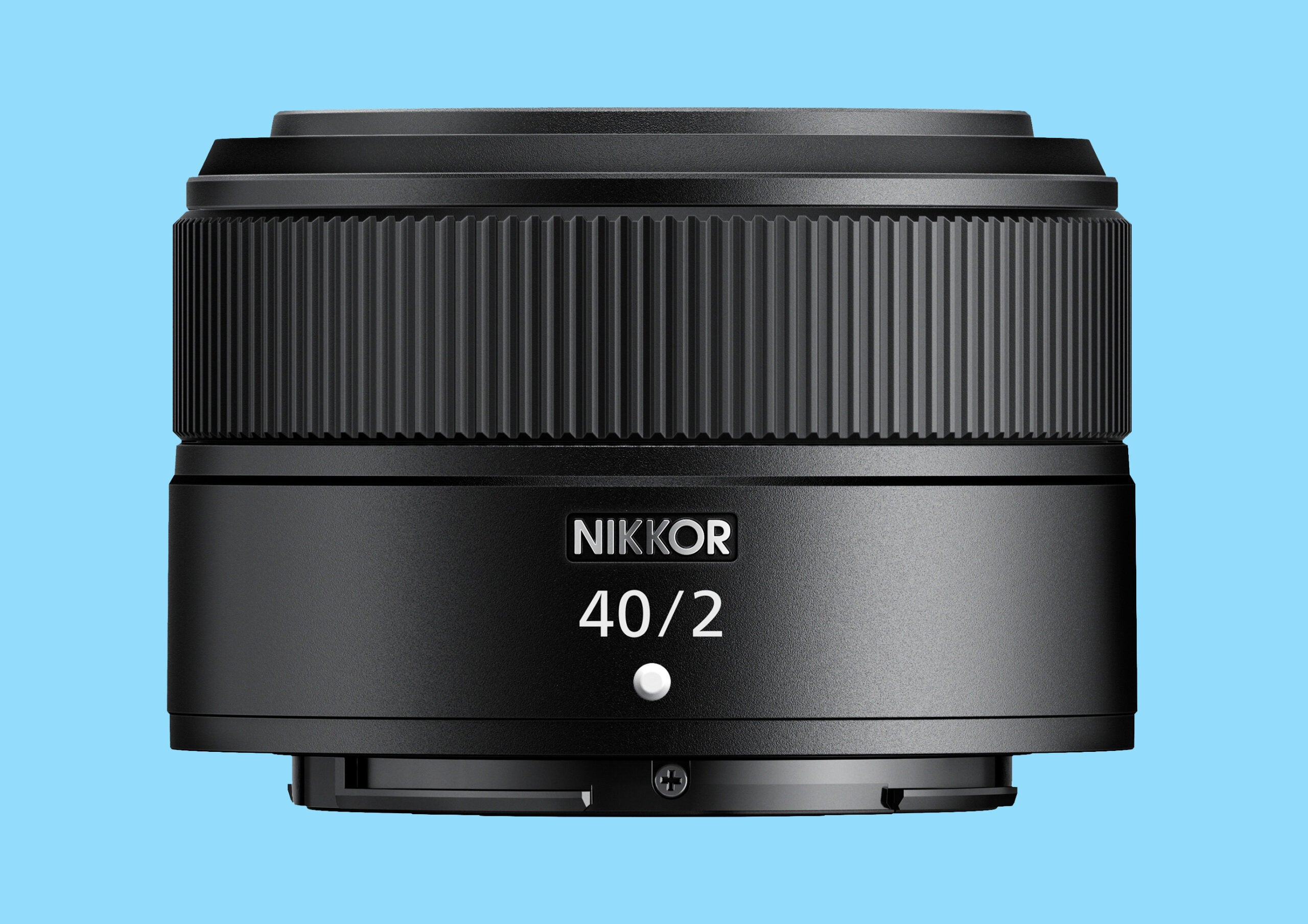 The front of the Nikon Z 40mm F2 lens