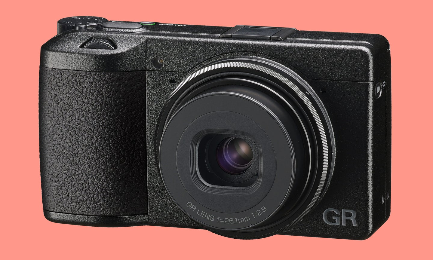 The front of the new Ricoh GR IIIx.