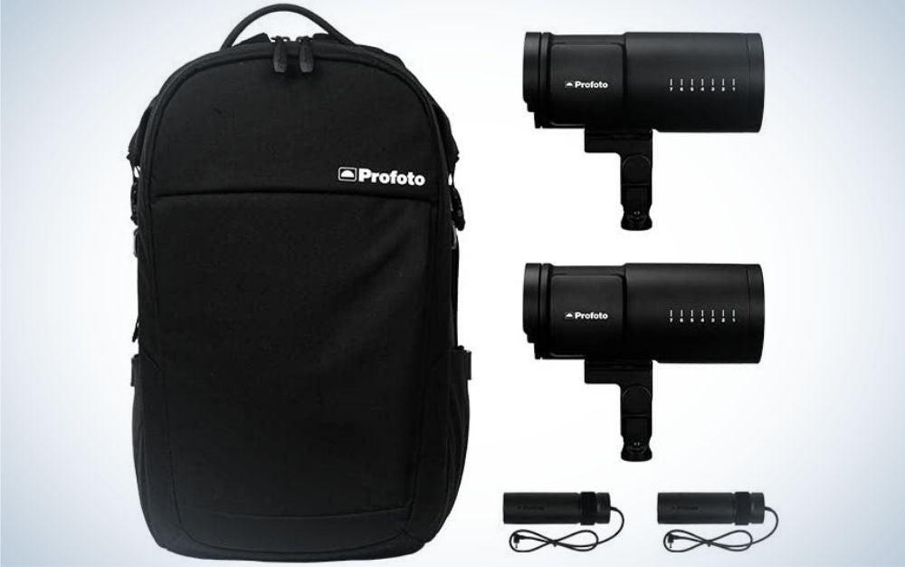 The Profoto B10 Plus is the best portrait lighting kit.