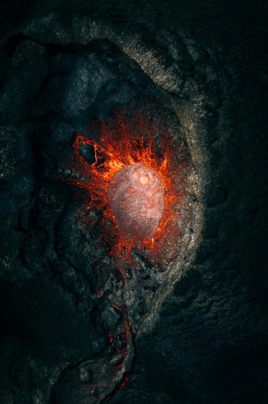 The intense and glorious moments during an erupting volcano with an exclusive view from the inside. Captured in Iceland