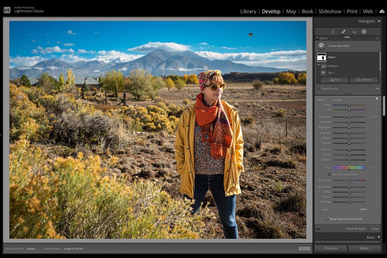 A screenshot of Adobe's new masking tool