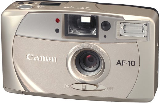 The Canon AF-10 film point and shoot.