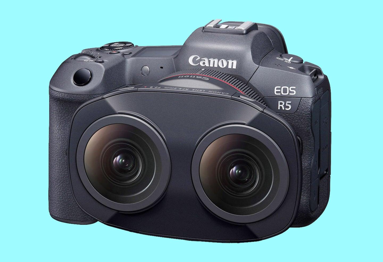The new Canon 5.2mm F2.8 L Dual Fisheye Lens.