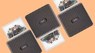 The new Fujifilm Instax Link Wide Smartphone printer.