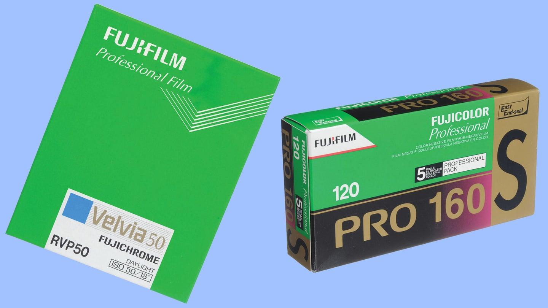 Fujifilm Velvia 50 sheet film and Fujicolor 160NS Pro 120 film